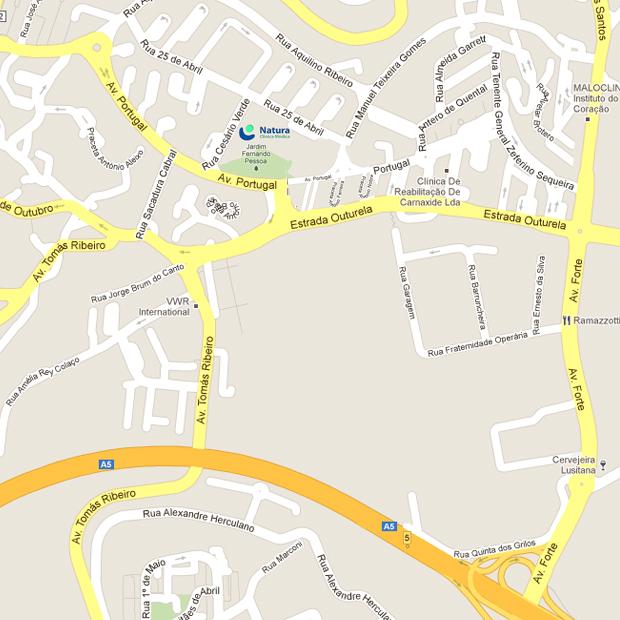 Mapa Localização Natura - Clínica Médica