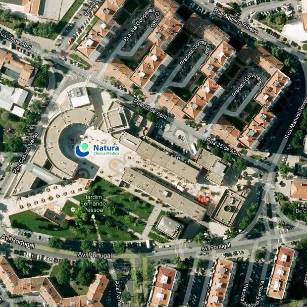 Vista satélite -  Natura Clínica Médica